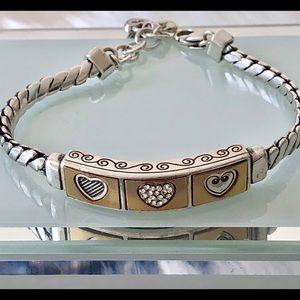 Brighton Gold/Silver Heart Bracelet. Stunning❤️
